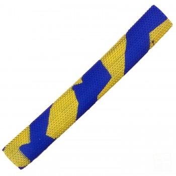 Navy Blue / Yellow Octopus Splash-Spiral Cricket Bat Grip