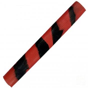Red / Black Octopus Splash-Spiral Cricket Bat Grip