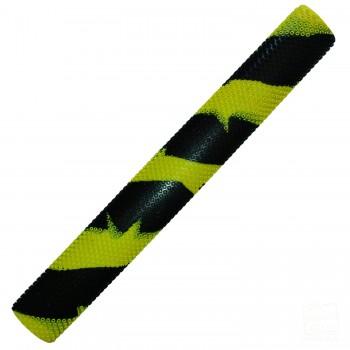 Neon Yellow and Black Octopus Splash-Spiral Cricket Bat Grip