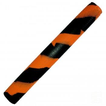 Orange / Black Octopus Splash-Spiral Cricket Bat Grip