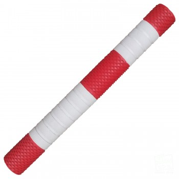 Red and White Penta Cricket Bat Grip