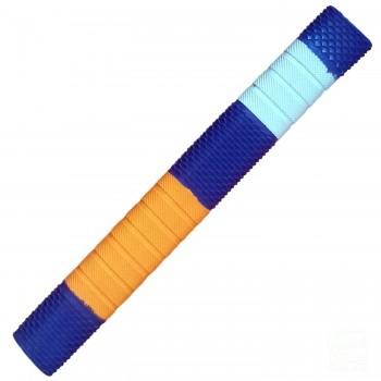 Navy Blue / Orange / White Penta Cricket Bat Grip