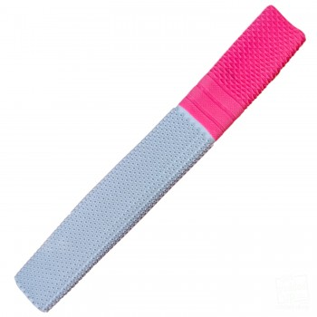 White and Neon Pink Trio Cricket Bat Grip
