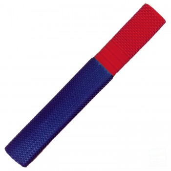 Navy Blue and Red Trio Cricket Bat Grip