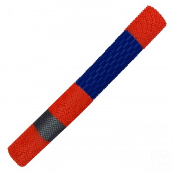 Navy Blue / Red / Silver Duo Cricket Bat Grip