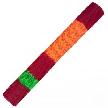 Orange / Red / Lime Green Duo Cricket Bat Grip