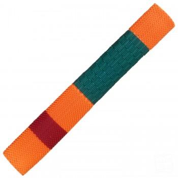 Dark Green / Orange / Red Duo Cricket Bat Grip