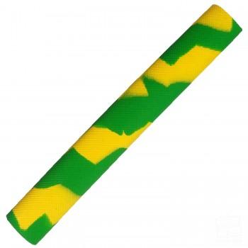 Lime Green and Yellow Diamond Splash-Spiral Cricket Bat Grip