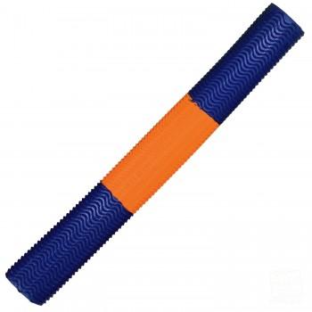 Metallic Blue / Orange Aqua Wave Cricket Bat Grip