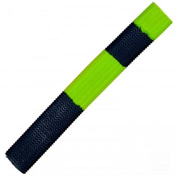 Gunmetal / Neon Lime Green Aqua Wave Cricket Bat Grip