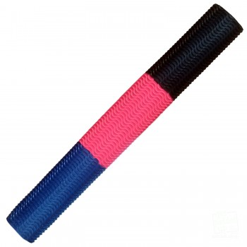 Navy Blue / Neon Pink / Black Aqua Wave Cricket Bat Grip