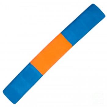 Sky Blue and Orange Chevron Cricket Bat Grip