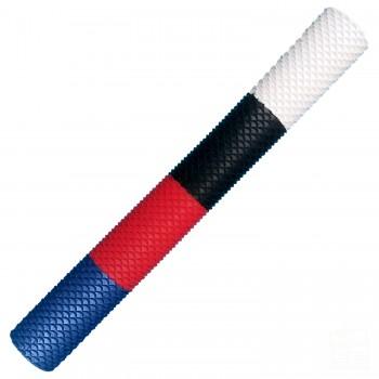 White, Black, Red, Blue Scale Cricket Bat Grip