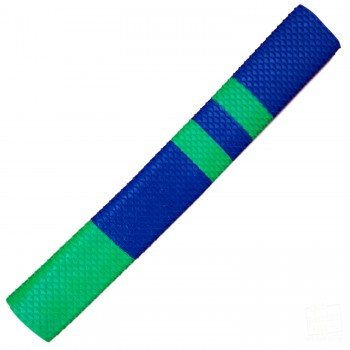 Navy Blue / Lime Green Scale Cricket Bat Grip
