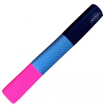 Neon Pink / Silver / Black Scale Cricket Bat Grip