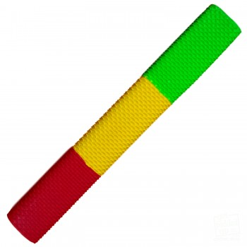 Lime Green / Yellow / Red Scale Cricket Bat Grip