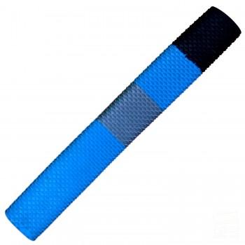 Sky Blue / Black / Grey Scale Cricket Bat Grip