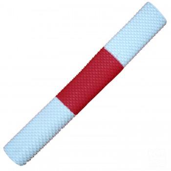 White / Red / White Scale Cricket Bat Grip