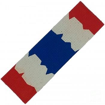 Red / White / Blue Cricket Bat Toe Guard