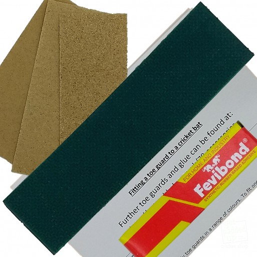 Dark Green Cricket Bat Toe Guard Kit