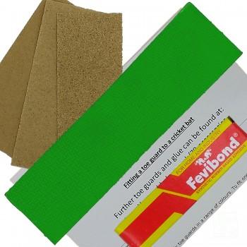 Lime Green Cricket Bat Toe Guard Kit