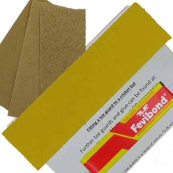 Yellow Cricket Bat Toe Guard Kit