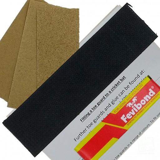 Black Cricket Bat Toe Guard Kit