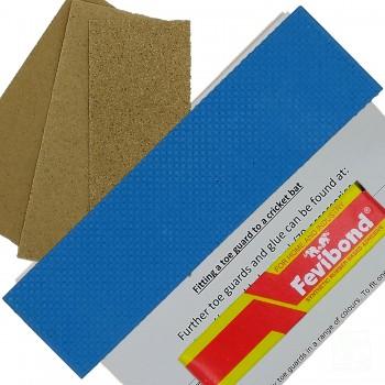 Sky Blue Cricket Bat Toe Guard Kit