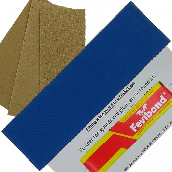 Royal Blue Cricket Bat Toe Guard Kit