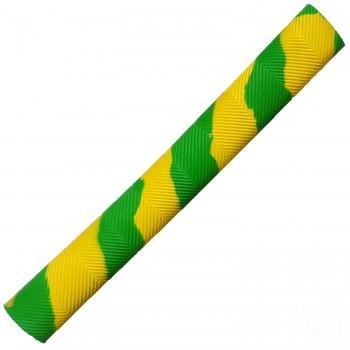 Lime Green and Yellow Chevron Splash-Spiral Cricket Bat Grip