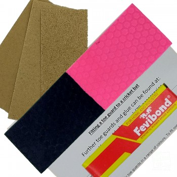 Half-n-Half Neon Pink and Black Cricket Bat Toe Guard Kit