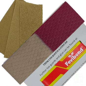 Half-n-Half Maroon and Gold Cricket Bat Toe Guard Kit