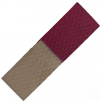 Half-n-Half Maroon and Gold Cricket Bat Toe Guard