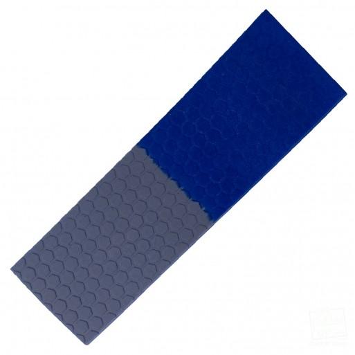 Half-n-Half Royal Blue and Silver Cricket Bat Toe Guard