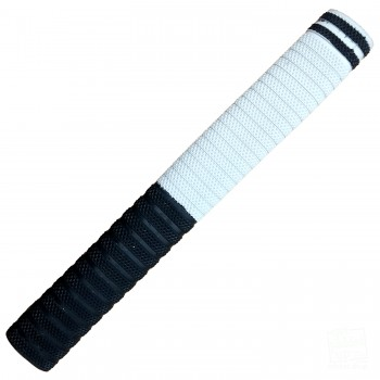 Black and White with Black Dynamite Cricket Bat Grip