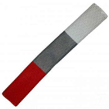 Red, Silver, White Octopus Cricket Bat Grip