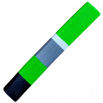 Lime Green, Black, Silver, White Octopus Cricket Bat Grip